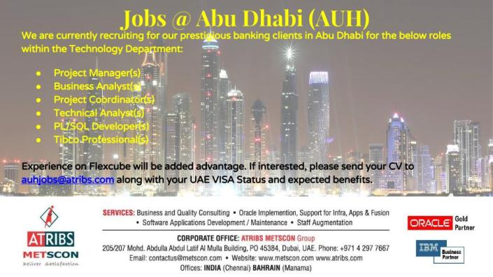 Job Announcement -Abu Dhabi