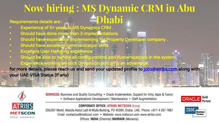 Ms Dynamic CRM Job Announcement Template