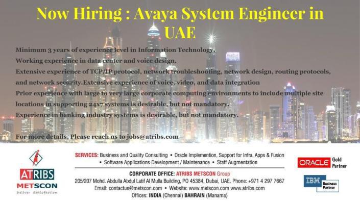 Avaya Eng - UAE