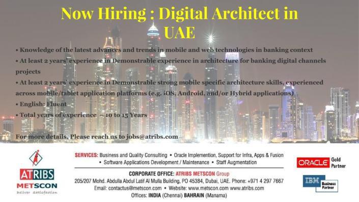 Digital Architect in UAE
