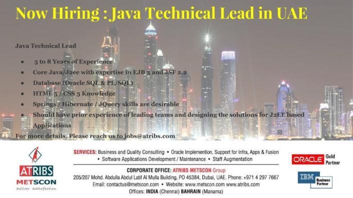Java Technical Lead