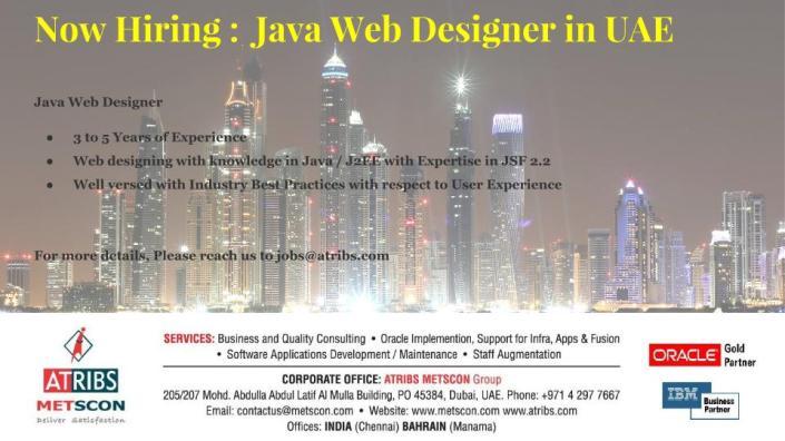 Java Web Designer