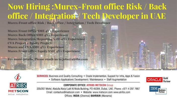 Murex-Front office Risk