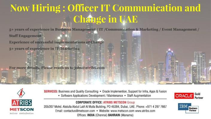 Officer IT communication UAE
