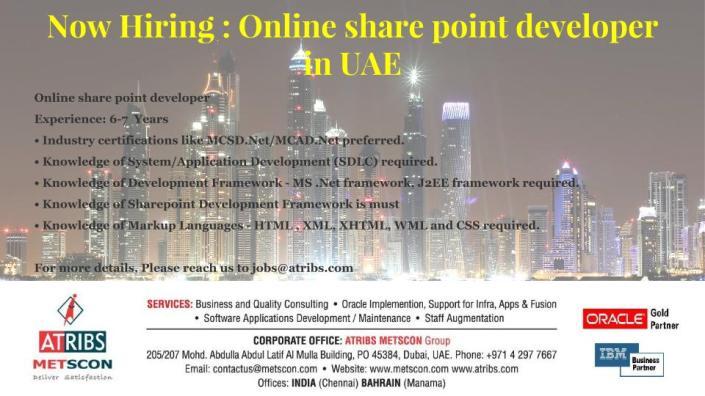 Online share point developer