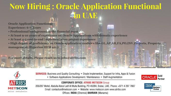 Oracle Application Functional