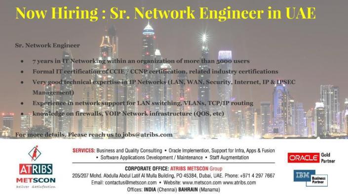 Sr. Network Engineer