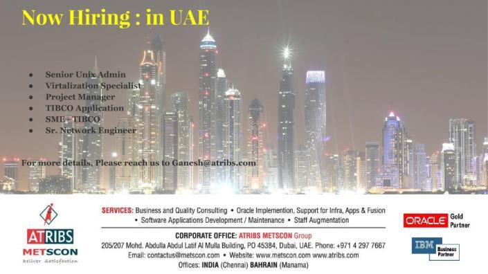 Now Hiring - in UAE 2