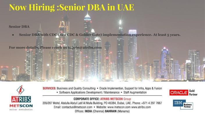 Senior DBA
