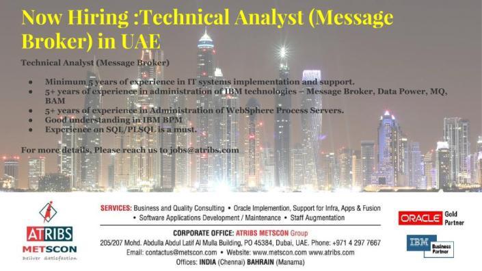 Technical Analyst (Message Broker)