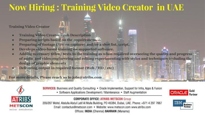 Training Video Creator