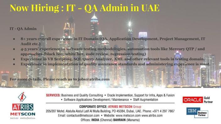 IT - QA Admin
