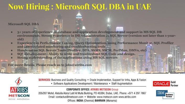 Microsoft SQL DBA