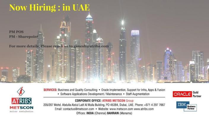 Now Hiring - in UAE