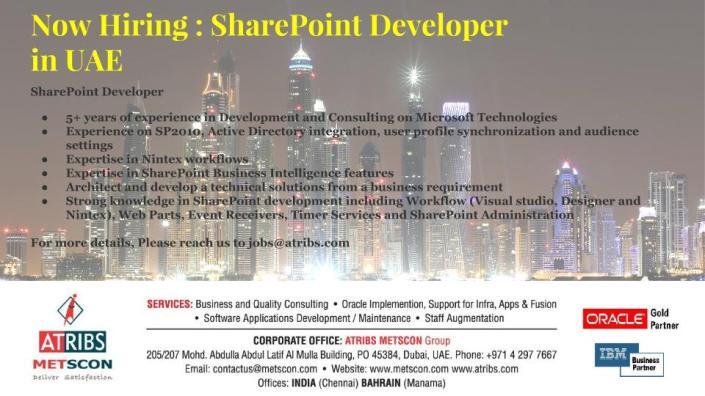 sharepoint developer job description pdf