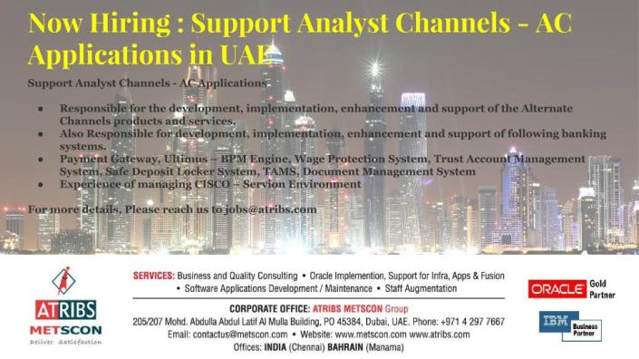 Support Analyst Channels - AC Applications
