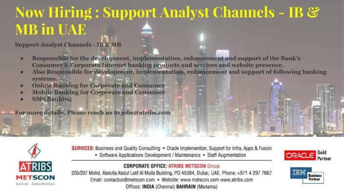 Support Analyst Channels - IB & MB