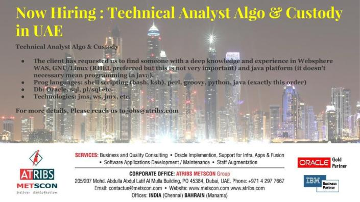 Technical Analyst Algo & Custody