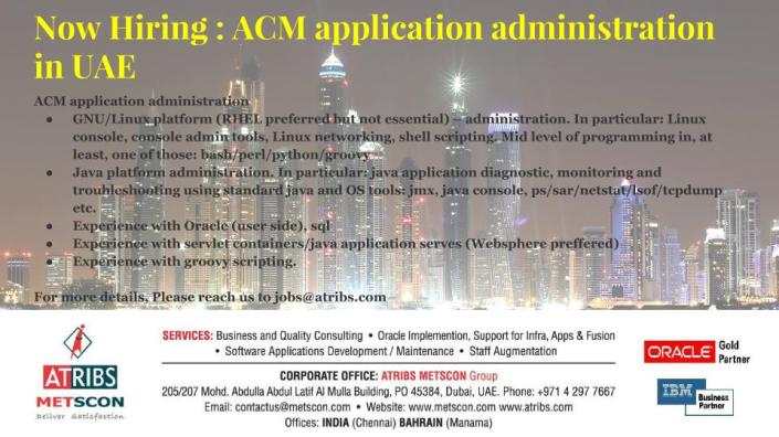 ACM application administration