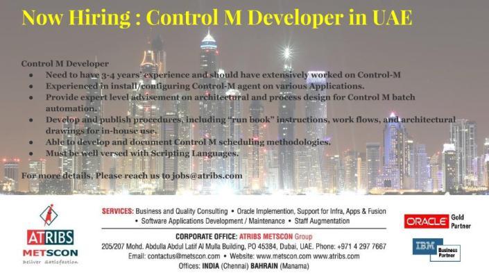 Control M Developer
