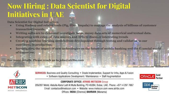 Data Scientist for Digital Initiatives