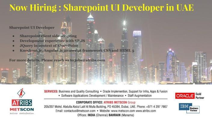 Sharepoint UI Developer
