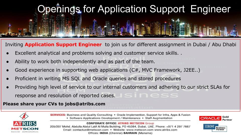 Application Support Engineer « ATRIBS - Career Page