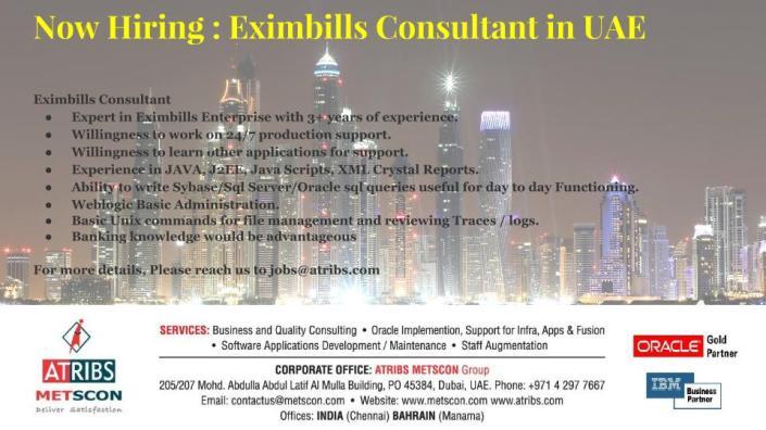 Eximbills Consultant