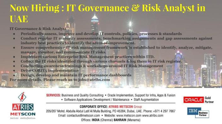 IT Governance & Risk Analyst