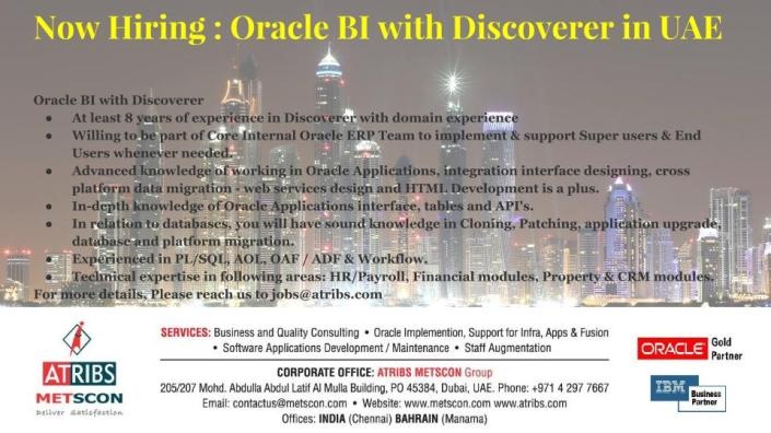 Oracle BI with Discoverer