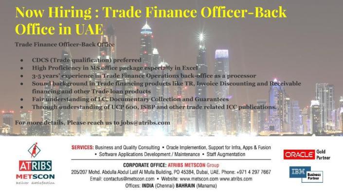 Trade Finance Officer-Back Office