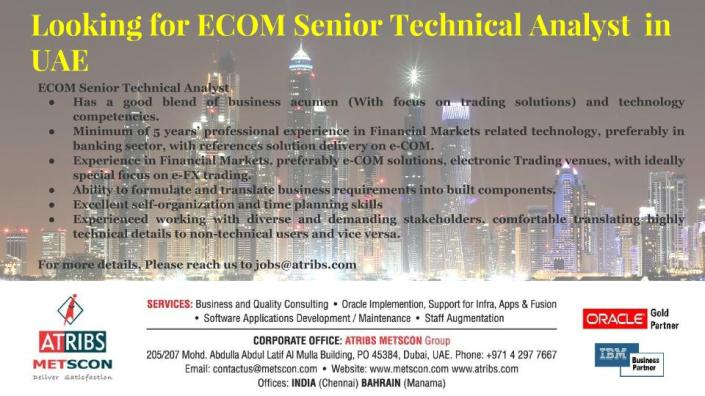 ECOM Senior Technical Analyst