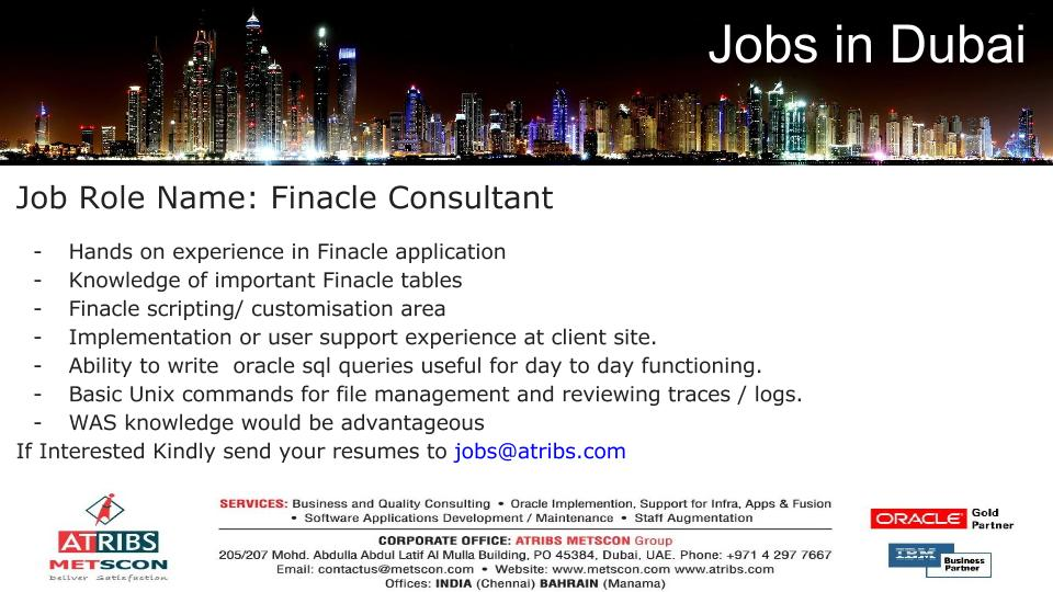 Finacle Consultant « ATRIBS - Career Page