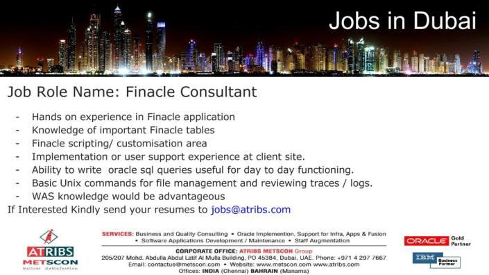 Finacle Consultant