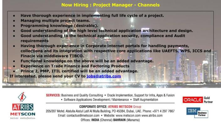 Project Manager - Channels