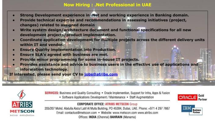 .Net Professional in UAE