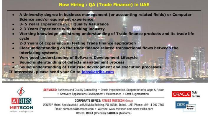 QA (Trade Finance)
