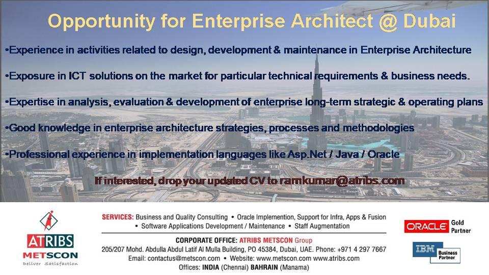 PPT for Job Posting-Enterprise architect « ATRIBS - Career Page